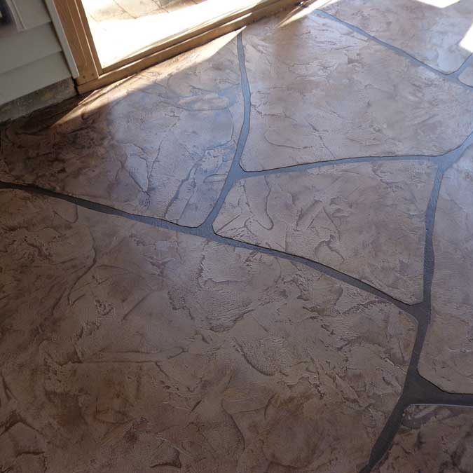 Grand Flagstone Stamped Concrete | Tile & Stone Service